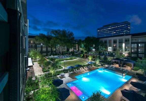 Aerial View Of Pool at Everra Midtown Park, Dallas, TX