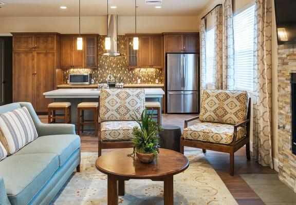 Fireplace in living area , at Villa Del Sol, California