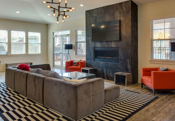 Classic Living Room Design With Television at Evolve at Tega Cay, Fort Mill, SC