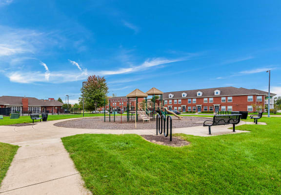 Outdoor recreation area-Horace Mann Apartments, Gary, IN