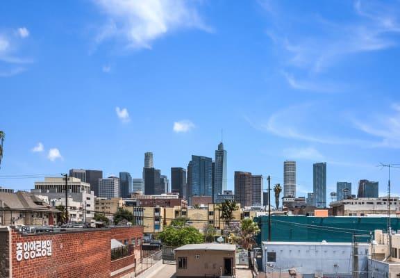 Apartment balcony view-MacArthur Park Apartments, Los Angeles, CA