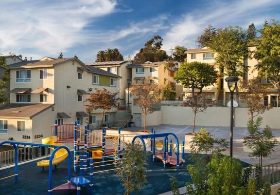 Apartment playground area-Mission Plaza Apartments, Los Angeles, CA