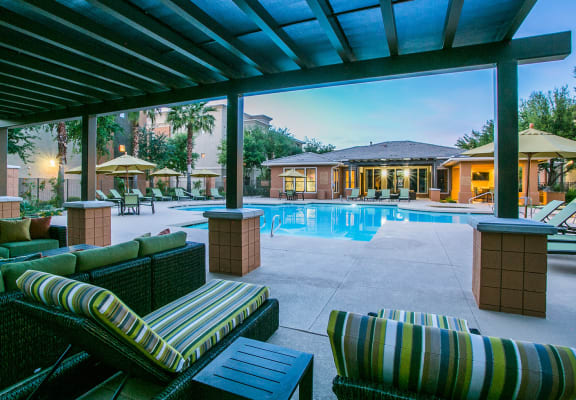 Waterford Pool and Outdoor Lounge Area