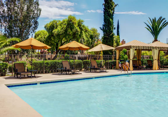 sparkling pool at Sonoran Terraces Apartment Homes