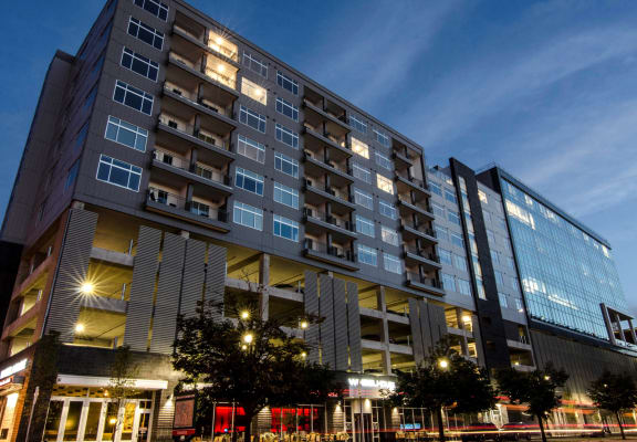 Night Time at Arena Place Apartments