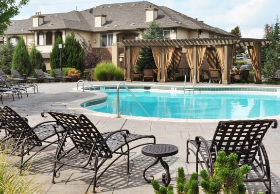 Pool with Sundeck at Lambertson Farms Apartment Homes in Thornton