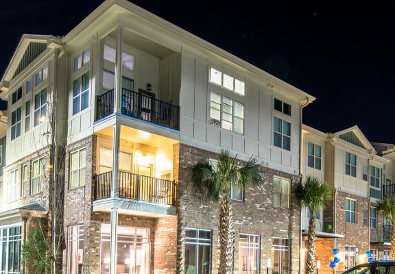 Exterior Property View At Night at Meridian at Fairfield Park, North Carolina, 28412