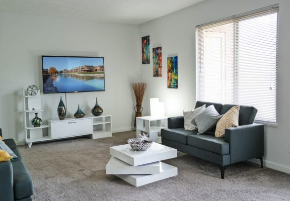 Living Room With Television at Lawrence Landing, Indianapolis, Indiana