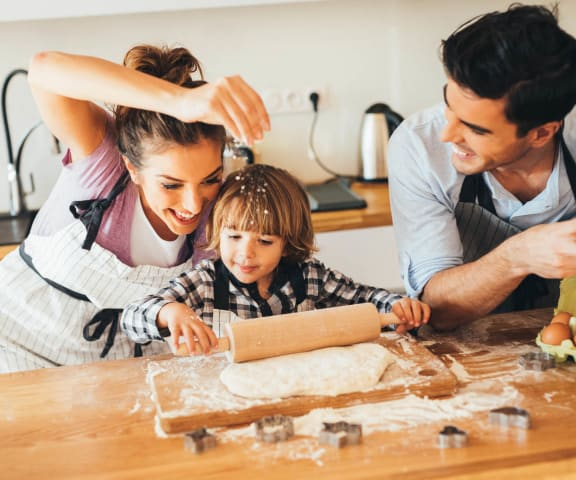stock image- Happy Family