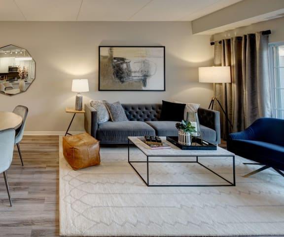 Classic Living Room Design at The MilTon Luxury Apartments, Vernon Hills, IL, 60061