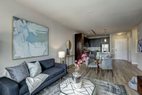 Modern Living Room at Highgate at the Mile, McLean, Virginia