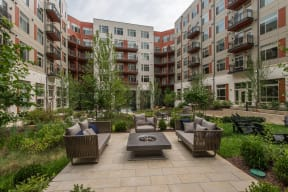 Outdoor Grill With Intimate Seating Area at Highgate at the Mile, McLean, VA