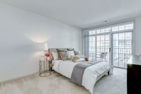 Bedroom With Expansive Windows at Garfield Park, Arlington, VA, 22201