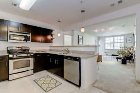 Kitchen with Stainless Steel Appliances at Garfield Park, Arlington, VA, 22201