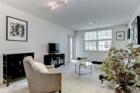 Living Room With Expansive Window at Garfield Park, Arlington, VA, 22201