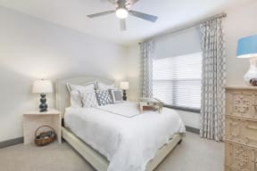 Transitional Primary Carpeted Bedroom at The Gentry at Hurstbourne, Louisville, KY, 40222