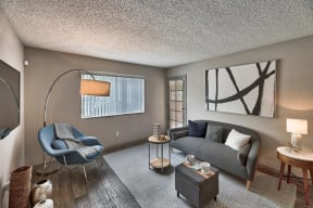 apartment interior with newer furniture