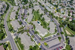 Aerial view of property with streets in fort collins colorado