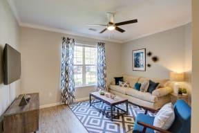 Living room with modern sofa at alvista harmony