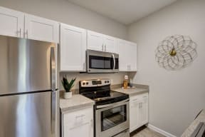 kitchen stainless appliances at apartment in fort collins colorado