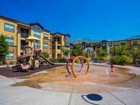 Outdoor playground and splash park