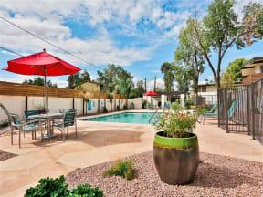 Poolside Seating at Paradise Palms, Phoenix