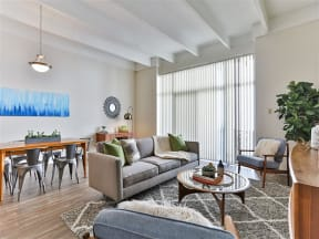 Living Rooms With Beautiful Blinds at Paradise Palms, Phoenix, AZ