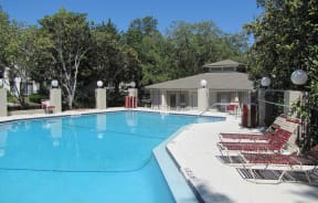 Pool view at Laurel Grove Apartment Homes, Orange Park