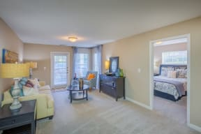 Bedroom View From Living Room at Southpoint Crossing, North Carolina