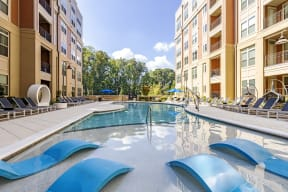 Swimming Pool And Sundeck at LaVie SouthPark, Charlotte, 28209