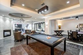 Billiards Table In Clubhouse at LaVie SouthPark, North Carolina