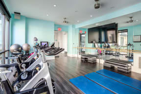 Fitness Center With Modern Equipment at LaVie SouthPark, Charlotte, NC