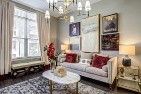 Modern Living Room at LaVie SouthPark, North Carolina, 28209