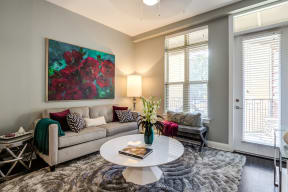Living Room With Expansive Window at LaVie SouthPark, Charlotte, North Carolina