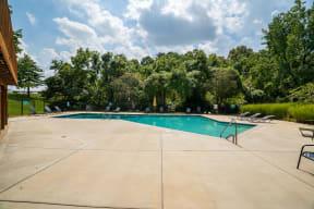 Large Pool Sundeck