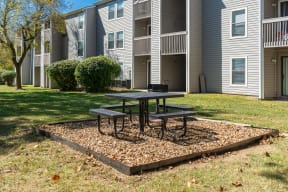 Outdoor Grilling Area with Picnic Table