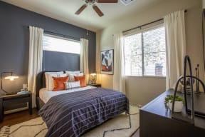 Bedroom at Casitas at San Marcos in Chandler AZ Nov 2020