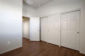 Closet space at Casitas at San Marcos in Chandler AZ Nov 2020