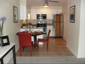 Kitchen & Dining Area at SunVilla Resort Apartments in Mesa, AZ