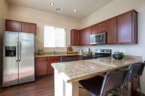 Kitchen Breakfast Bar at Casitas at San Marcos in Chandler AZ Nov 2020