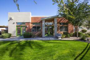 Leasing Office Exterior at Casitas at San Marcos in Chandler AZ Nov 2020