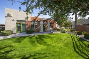 Lush Landscaping at Casitas at San Marcos in Chandler AZ Nov 2020