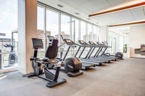 Cardio Machines In Gym at North+Vine, Chicago, IL