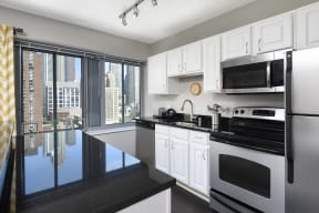 Furnished model home with upgraded kitchen