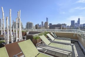 Rooftop views of downtown Chicago