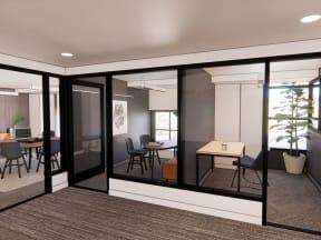interior rendering of clubroom