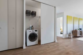 Utility closet with washer and dryer