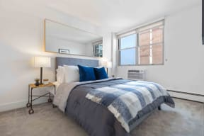 Furnished bedroom model
