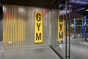 Entrance to the fitness center