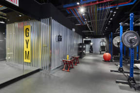 Interior view of fitness center